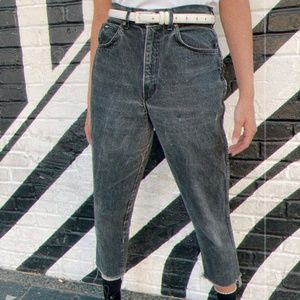 Vintage Chic High Waisted Black Jeans Women's